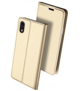 """Auksinės spalvos atverčiamas dėklas Apple iPhone XR telefonui """"Dux Ducis Skin"""""""