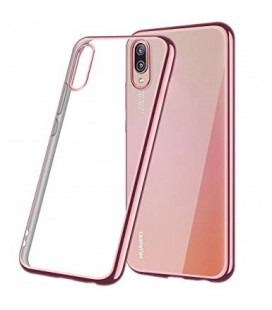 """Rausvai auksinės spalvos silikoninis dėklas Huawei P20 telefonui """"Glossy"""""""