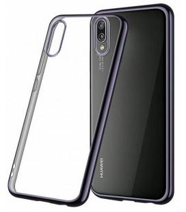 """Juodas silikoninis dėklas Huawei P20 telefonui """"Glossy"""""""