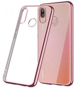 """Rausvai auksinės spalvos silikoninis dėklas Huawei P20 Lite telefonui """"Glossy"""""""