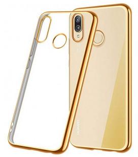 """Auksinės spalvos silikoninis dėklas Huawei P20 Lite telefonui """"Glossy"""""""