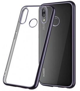 """Juodas silikoninis dėklas Huawei P20 Lite telefonui """"Glossy"""""""