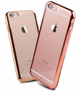 """Rausvai auksinės spalvos silikoninis dėklas Apple iPhone 6/6s Telefonui """"Glossy"""""""