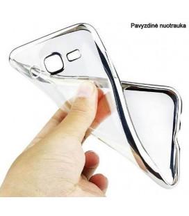 """Sidabrinės spalvos silikoninis dėklas Huawei P20 Lite telefonui """"Glossy"""""""