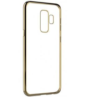 """Auksinės spalvos silikoninis dėklas Samsung Galaxy S9 Plus telefonui """"Glossy"""""""