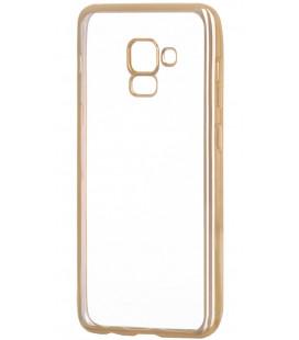"""Auksinės spalvos silikoninis dėklas Samsung Galaxy A8 2018 telefonui """"Glossy"""""""