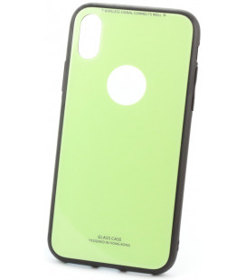 """Žalias dėklas Apple iPhone X/XS telefonui """"Glass Case"""""""