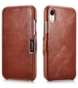 """Rudas odinis atverčiamas dėklas Apple iPhone XR telefonui """"iCarer Vintage"""""""