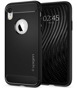 "Juodas dėklas Apple iPhone XR telefonui ""Spigen Rugged Armor"""