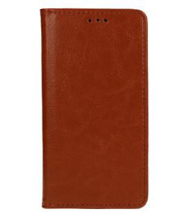 """Odinis rudas atverčiamas klasikinis dėklas Huawei Y6 2018 telefonui """"Book Special Case"""""""
