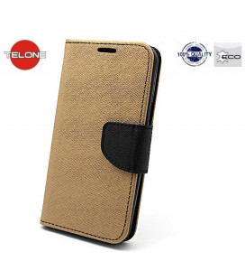 """Auksinės spalvos atverčiamas dėklas Samsung Galaxy S10E telefonui """"Telone Fancy"""""""