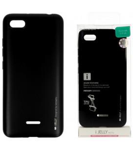 """Juodas silikoninis dėklas Xiaomi Redmi 6A telefonui """"Mercury iJelly Case Metal"""""""