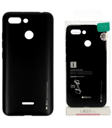 """Juodas silikoninis dėklas Xiaomi Redmi 6 telefonui """"Mercury iJelly Case Metal"""""""