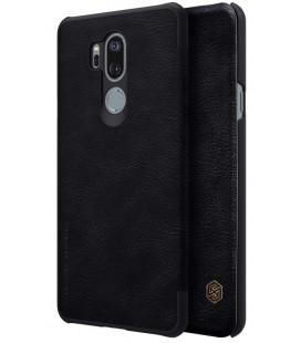"""Odinis juodas atverčiamas dėklas LG G7 ThinQ telefonui """"Nillkin Qin"""""""