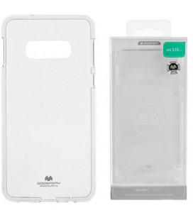 """Skaidrus silikoninis dėklas Samsung Galaxy S10E telefonui """"Mercury Goospery Pearl Jelly Case"""""""
