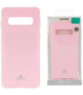 """Šviesiai rožinis silikoninis dėklas Samsung Galaxy S10E telefonui """"Mercury Goospery Pearl Jelly Case"""""""
