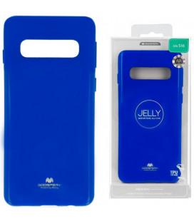"""Mėlynas silikoninis dėklas Samsung Galaxy S10 telefonui """"Mercury Goospery Pearl Jelly Case"""""""