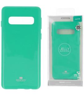 """Mėtos spalvos silikoninis dėklas Samsung Galaxy S10 telefonui """"Mercury Goospery Pearl Jelly Case"""""""