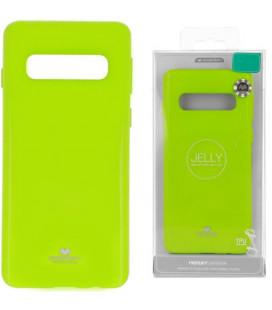 """Žalias silikoninis dėklas Samsung Galaxy S10 telefonui """"Mercury Goospery Pearl Jelly Case"""""""