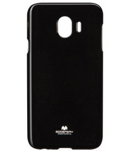 """Juodas silikoninis dėklas Samsung Galaxy J4 2018 telefonui """"Mercury Goospery Pearl Jelly Case"""""""