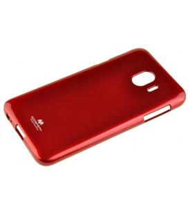 """Raudonas silikoninis dėklas Samsung Galaxy J4 2018 telefonui """"Mercury Goospery Pearl Jelly Case"""""""