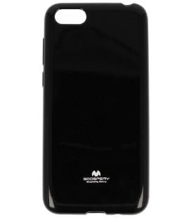 """Juodas silikoninis dėklas Huawei Y5 2018 telefonui """"Mercury Goospery Pearl Jelly Case"""""""
