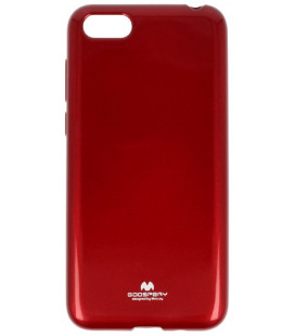 """Raudonas silikoninis dėklas Huawei Y5 2018 telefonui """"Mercury Goospery Pearl Jelly Case"""""""