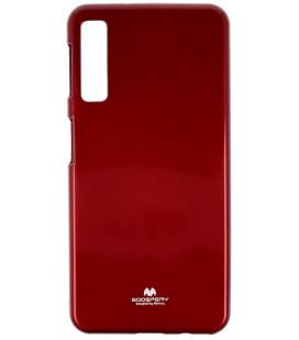 """Raudonas silikoninis dėklas Samsung Galaxy A7 2018 telefonui """"Mercury Goospery Pearl Jelly Case"""""""