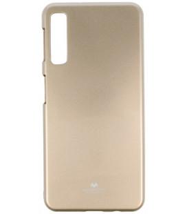 """Auksinės spalvos silikoninis dėklas Samsung Galaxy A7 2018 telefonui """"Mercury Goospery Pearl Jelly Case"""""""