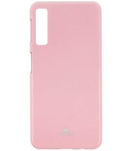 """Šviesiai rožinis silikoninis dėklas Samsung Galaxy A7 2018 telefonui """"Mercury Goospery Pearl Jelly Case"""""""