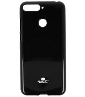 """Juodas silikoninis dėklas Huawei Y6 Prime 2018 telefonui """"Mercury Goospery Pearl Jelly Case"""""""