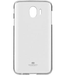 """Skaidrus silikoninis dėklas Samsung Galaxy J4 2018 telefonui """"Mercury Goospery Pearl Jelly Case"""""""