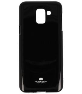"""Juodas silikoninis dėklas Samsung Galaxy J6 2018 telefonui """"Mercury Goospery Pearl Jelly Case"""""""