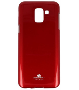 """Raudonas silikoninis dėklas Samsung Galaxy J6 2018 telefonui """"Mercury Goospery Pearl Jelly Case"""""""