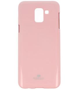 """Šviesiai rožinis silikoninis dėklas Samsung Galaxy J6 2018 telefonui """"Mercury Goospery Pearl Jelly Case"""""""