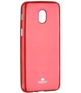"""Raudonas silikoninis dėklas Samsung Galaxy J3 2018 telefonui """"Mercury Goospery Pearl Jelly Case"""""""