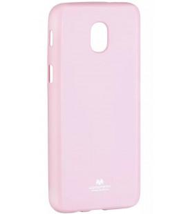 """Šviesiai rožinis silikoninis dėklas Samsung Galaxy J3 2018 telefonui """"Mercury Goospery Pearl Jelly Case"""""""