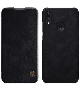 """Odinis juodas atverčiamas dėklas Huawei P Smart 2019 telefonui """"Nillkin Qin"""""""