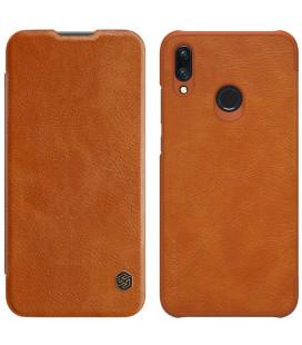 """Odinis rudas atverčiamas dėklas Huawei P Smart 2019 telefonui """"Nillkin Qin"""""""