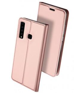 """Rausvai auksinės spalvos atverčiamas dėklas Samsung Galaxy A9 2018 telefonui """"Dux Ducis Skin"""""""