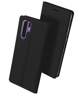 """Juodas atverčiamas dėklas Huawei P30 Pro telefonui """"Dux Ducis Skin"""""""