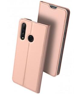 """Rausvai auksinės spalvos atverčiamas dėklas Huawei P30 Lite telefonui """"Dux Ducis Skin"""""""