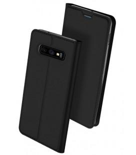 """Juodas atverčiamas dėklas Samsung Galaxy S10E telefonui """"Dux Ducis Skin"""""""