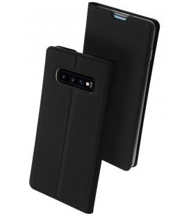 """Juodas atverčiamas dėklas Samsung Galaxy S10 telefonui """"Dux Ducis Skin"""""""