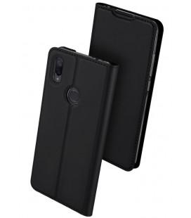 """Juodas atverčiamas dėklas Xiaomi Redmi Note 7 telefonui """"Dux Ducis Skin"""""""