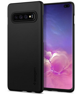 "Juodas dėklas Samsung Galaxy S10 Plus telefonui ""Spigen Thin Fit"""