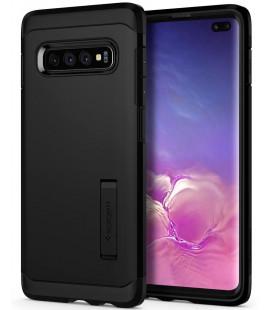 """Juodas dėklas Samsung Galaxy S10 Plus telefonui """"Spigen Tough Armor"""""""
