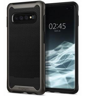 "Pilkas dėklas Samsung Galaxy S10 Plus telefonui ""Spigen Hybrid NX"""