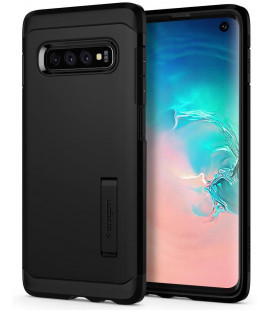 """Juodas dėklas Samsung Galaxy S10 telefonui """"Spigen Tough Armor"""""""