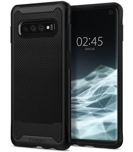 "Juodas dėklas Samsung Galaxy S10 telefonui ""Spigen Hybrid NX"""